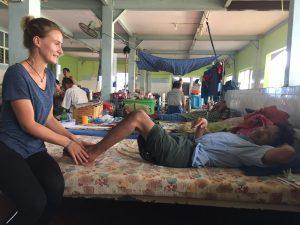 Fysiotherapie op bed