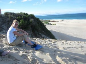 Sandboarden in zuid-Afrika
