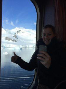 Telefoon in Antarctica