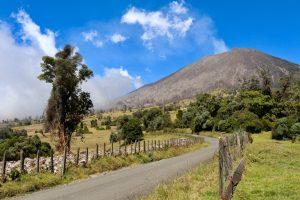 De actieve vulkaan