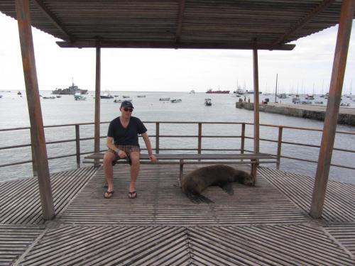 Fysiotherapeut op de Galapagos Eilanden